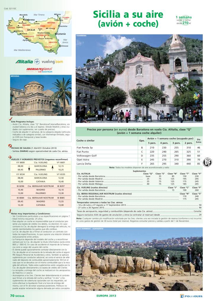 SICILIA a su Aire, salidas del 15/07 al 31/10 (1 semana) desde 210€ - http://zocotours.com/sicilia-a-su-aire-salidas-del-1507-al-3110-1-semana-desde-210e/