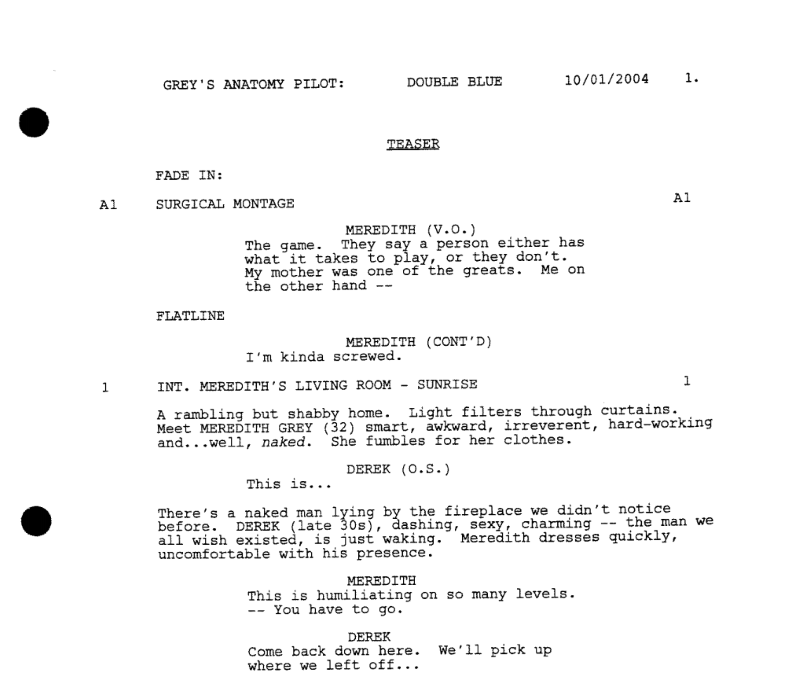 A Simple Guide to Formatting Television Scripts
