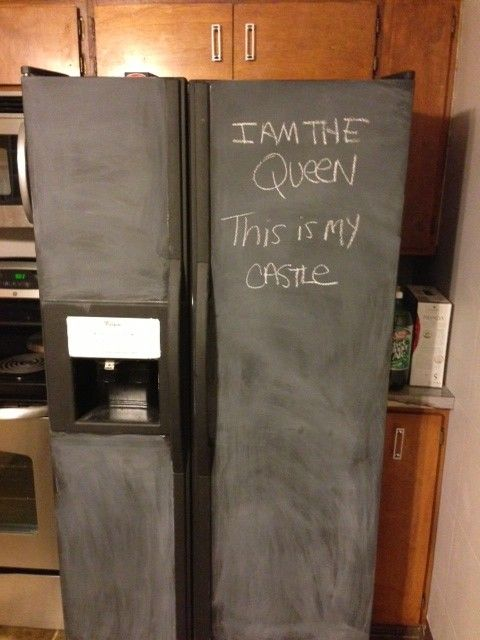 Chalkboard Refrigerator (Primed), PrettyPurpleDoor.com