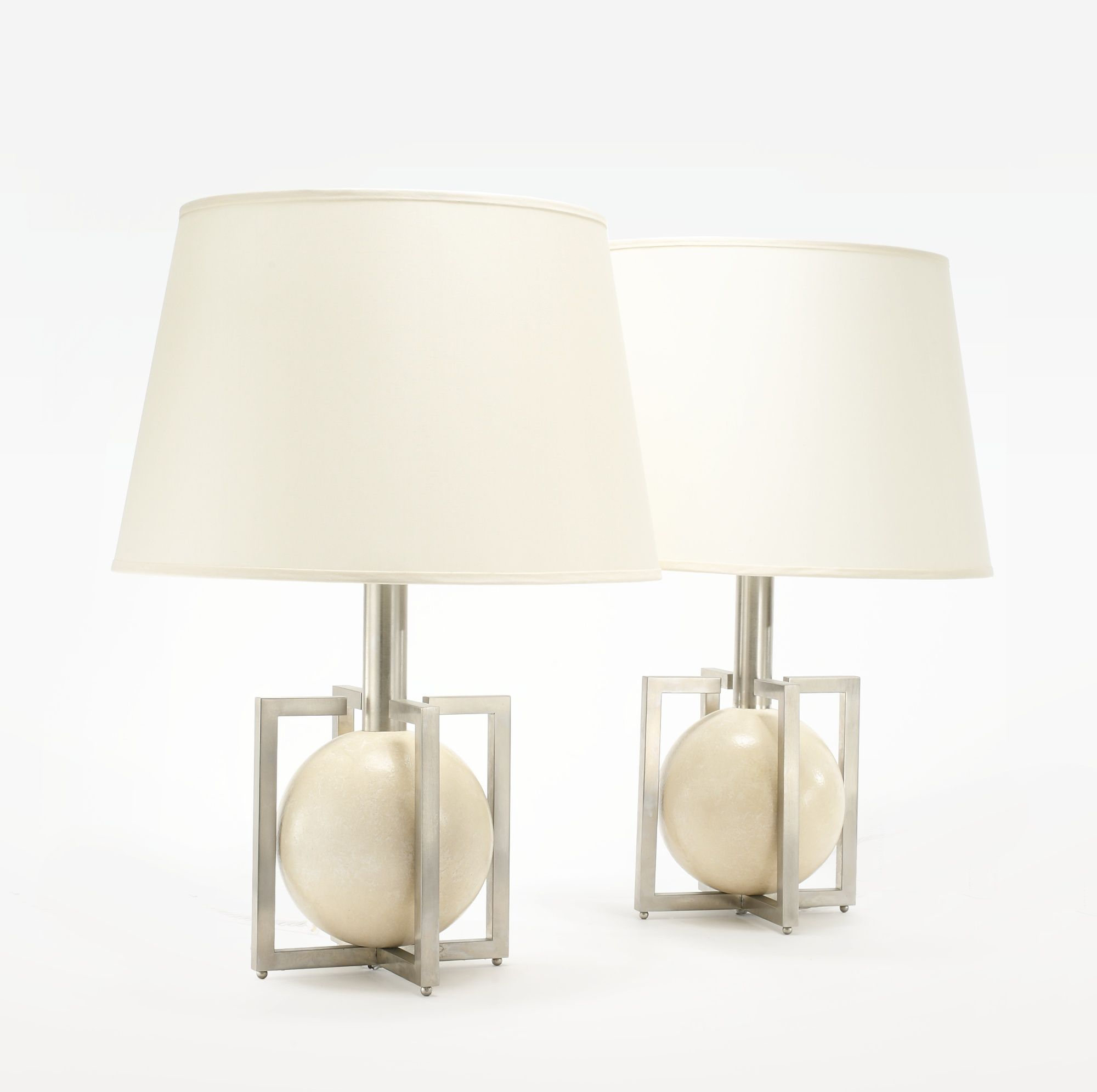 Murano gl floor lamp murano gl floor lamps 173 for at 1stdibs - James Mont Pair Of Table Lamps Lacquered Wood Nickel And Paper Shades 25 3