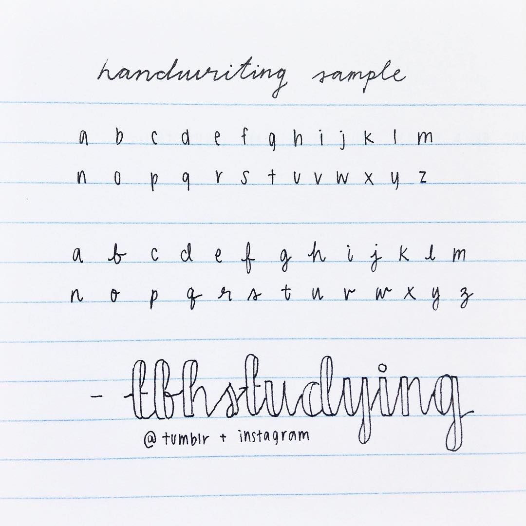 neat writing alphabet letters