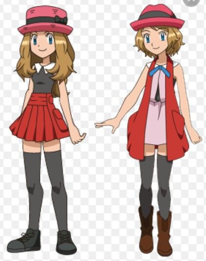 Old Serena Long Hair And New Serena Short Hair Pokemon Ash