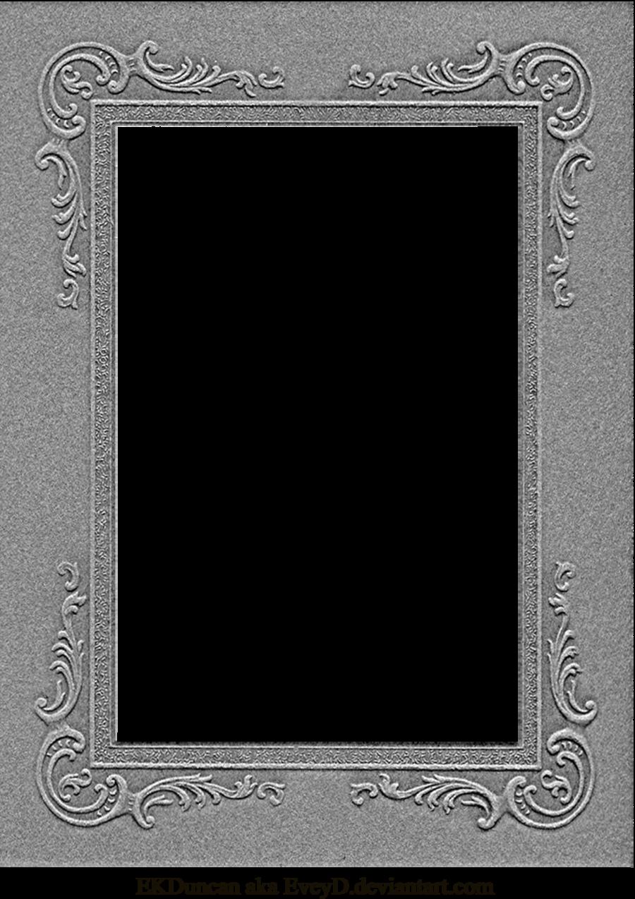 Grey Album Cardboard Art Paper Texture Bright Rough: Vintage Cabinet Card Photo Frame Pressboard 1 By ~EveyD On