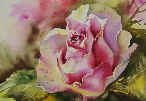 Aquarelles fleurs fruits aquarelle marichalar for Pinterest aquarell