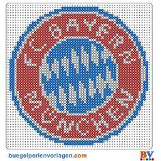 Bugelperlen Vorlage Bayer Munchen Bugelperlen Bugelperlen Vorlagen Bugelperlenvorlagen