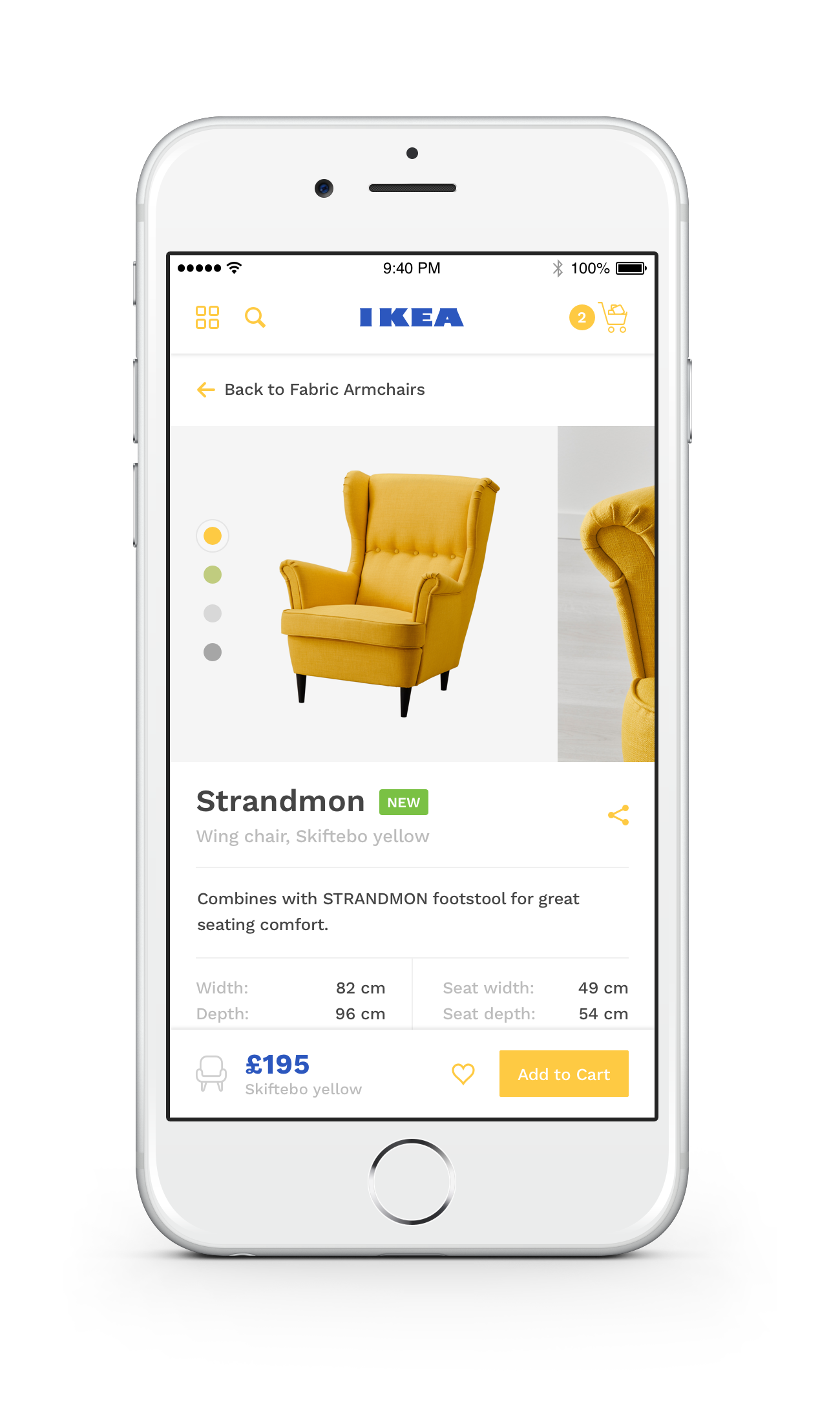 Ikea Ios App Product Redesign By Ollie Barker Dribbble Mobil