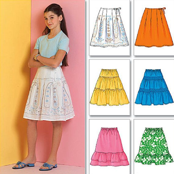 MAKE LEGGINGS~SKIRTS SEWING PATTERN 4 STYLES EACH CHILD 3 TO GIRL 14 CLOTHES