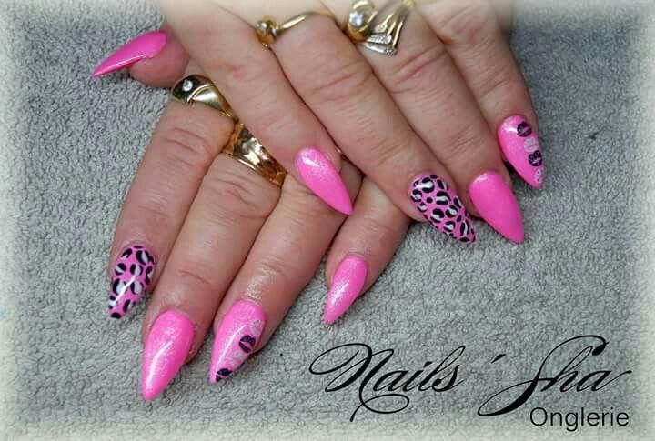 Nice Kiss Stiletto Nails Ornament - Nail Paint Design Ideas ...