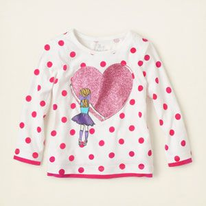 baby girl - long sleeve tops - dot active top | Children's Clothing | Kids Clothes | The Children's Place
