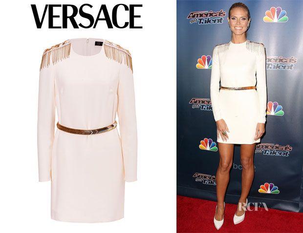 Heidi Klum's Versace Silk Dress
