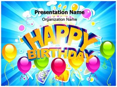 Happy Birthday Abstract Powerpoint Template Is One Of The
