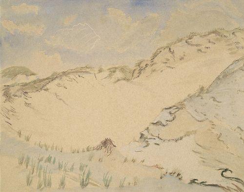 Erich Heckel (German, 1883-1970), Dünen und Wolken