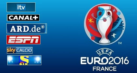 uefa euro 2016 tv broadcasting channels and live coverage
