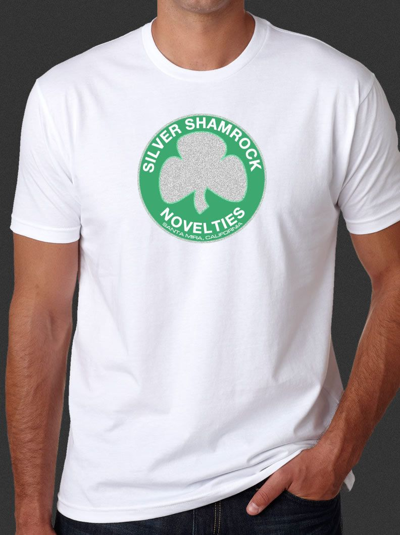 halloween iii 3 season of the witch silver shamrock novelties white t shirt s 6x by sinistercrypt on etsy