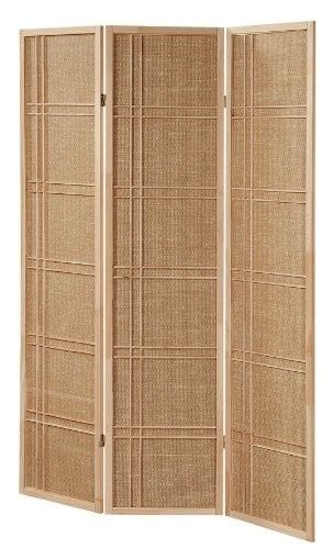 3 And 4 Panel Fabric In-lay Wooden Screen Room Divider
