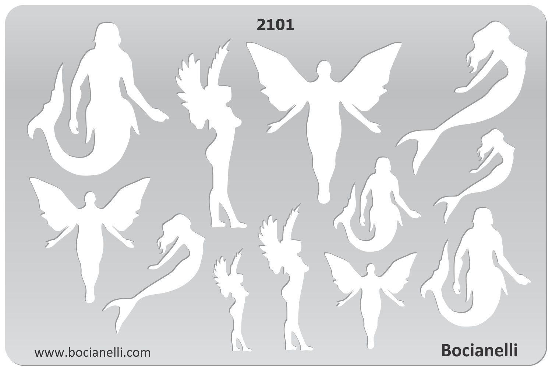 Plastic Stencil Template Drawing Drafting Design Jewellery Symbols