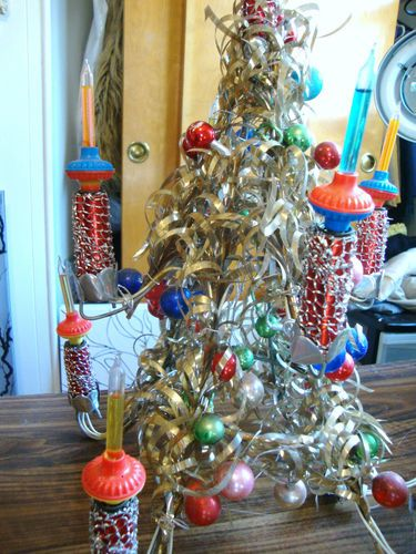 aluminum vintage christmas tree bubble lights ebay - Ebay Vintage Christmas Decorations