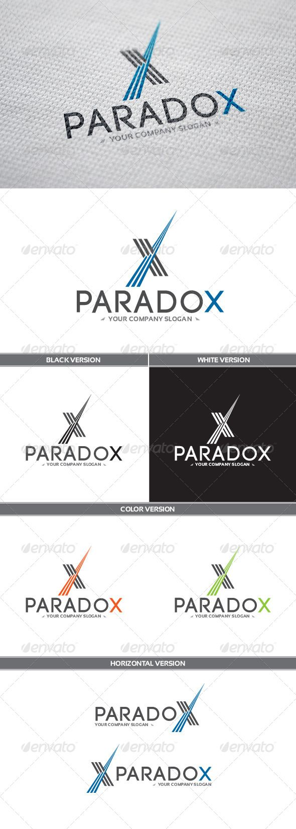 ParadoX Logo — Vector EPS #dynamics #letter x • Available here → https://graphicriver.net/item/paradox-logo/8321062?ref=pxcr