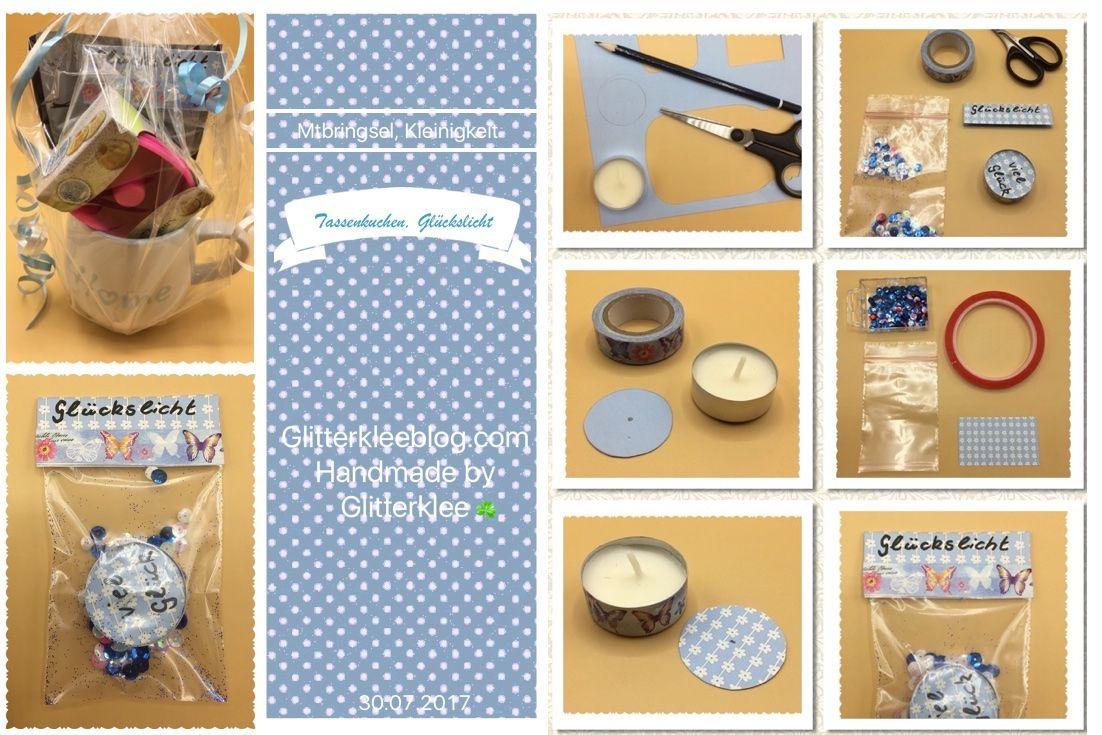 Tassenkuchen Mit Gluckslicht Diy Mitbringsel Kleinigkeiten
