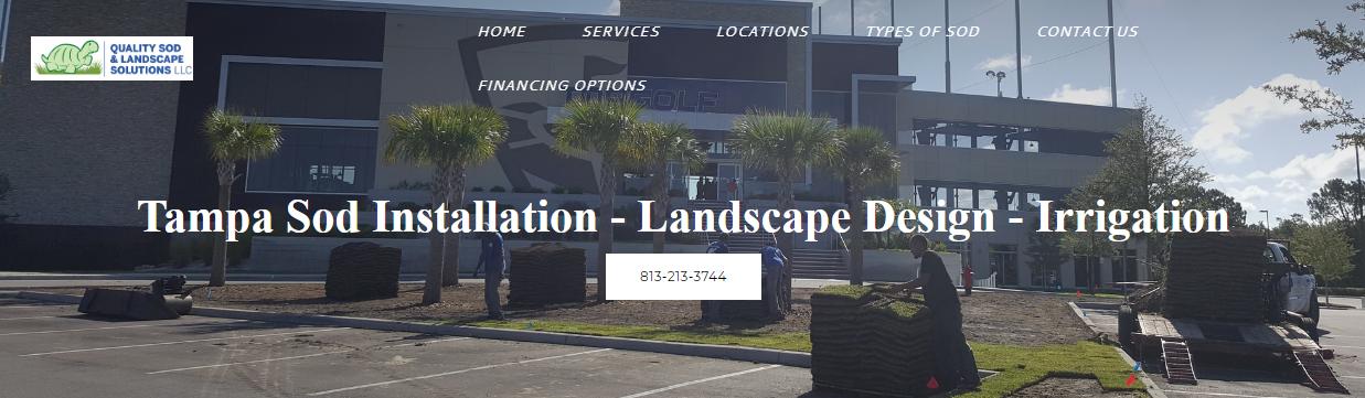 Sod Installation Tampa Landscape Design Sprinkler Systems Sod Installation Landscape Design Landscape Design Services