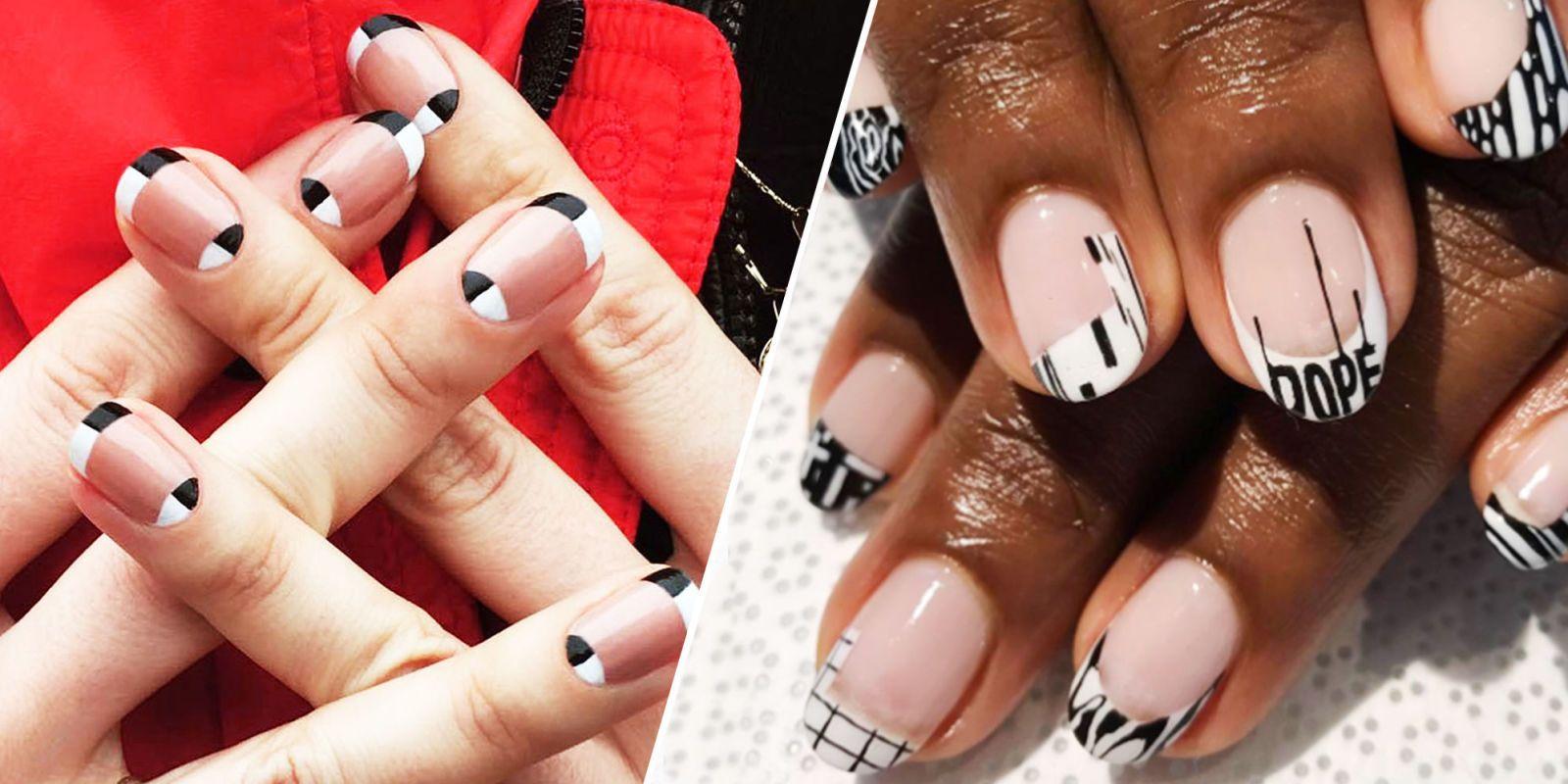 17 New Ways to Wear a French Manicure | Manicure, Manicure nail ...