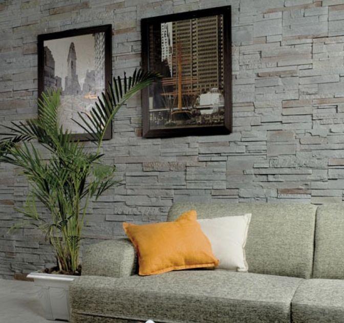 Plaquettes pierres parement style contemporain dressing - Revetement mural couloir ...