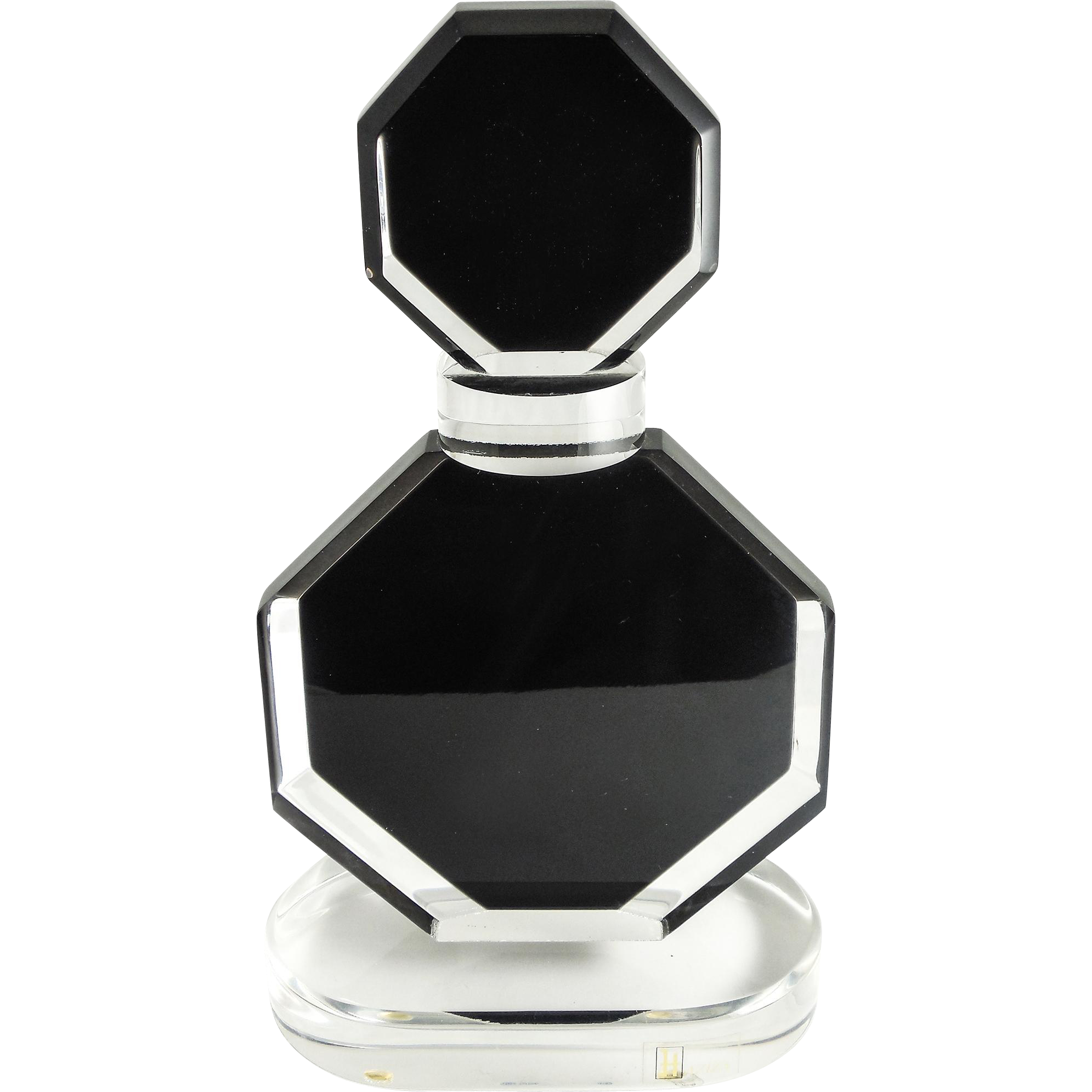 Shalom Haziza Lucite Sculpture Perfume Bottle Listed Artist Black Clear Signed Well Listed Artist Foun Perfume Bottle Design Perfume Bottles Perfume