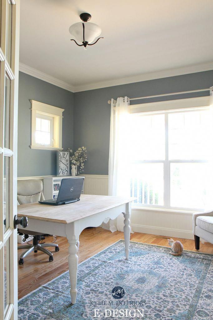 Benjamin Moore Simply White paint color on paneling in a