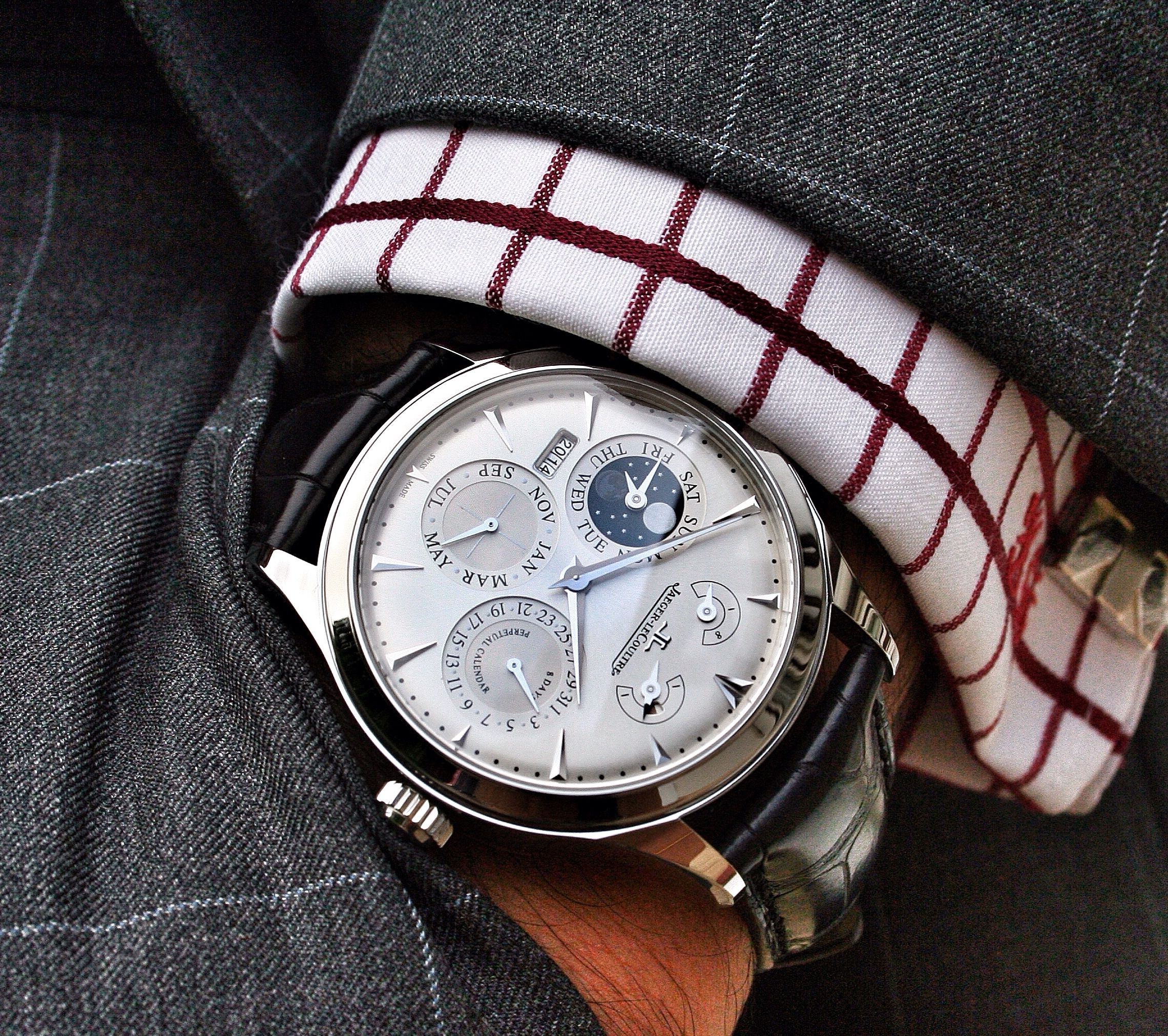 Jaeger-LeCoultre NEW Master Eight Days Perpetual Q1618420  (Retail:HK$175,000) OUR PRICE 售價: HK$129,800. #jlc #ja… | Jaeger lecoultre,  Wrist shot, The eighth day