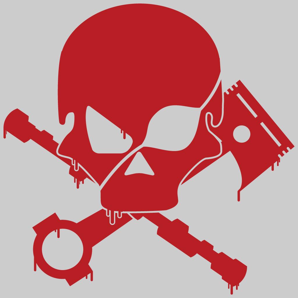 Skull, Piston and Camshaft