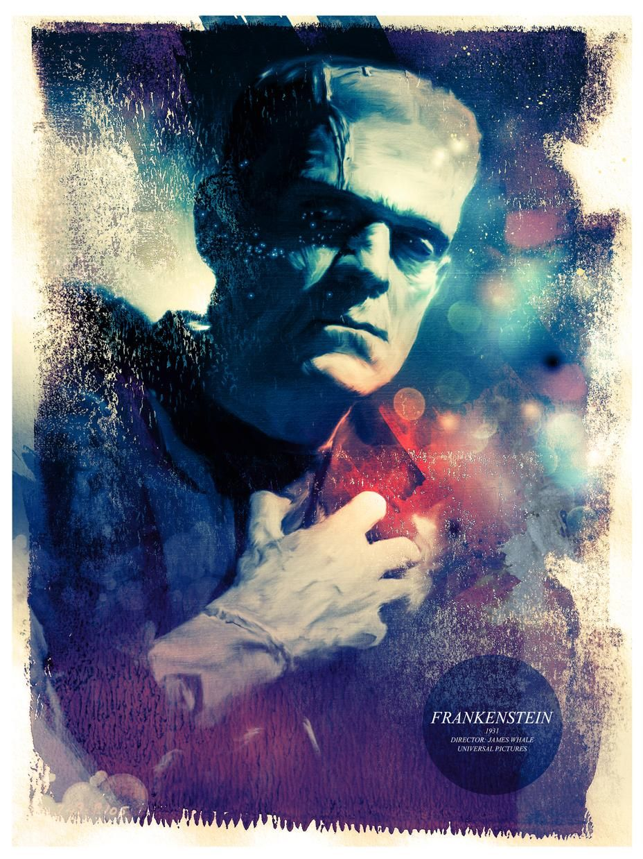 Richard Davies' Universal Frankenstein's Monster Portrait