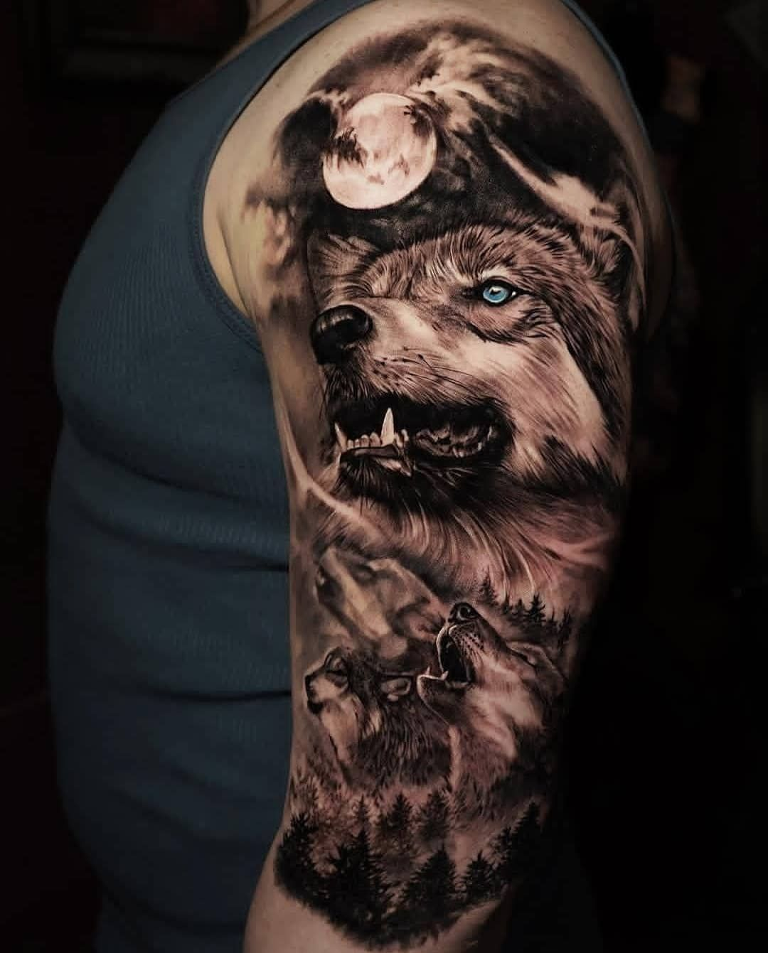 Brutal Made B Tatuajes De Lobos Diseno Del Tatuaje De Lobo Tatuaje De Tigre