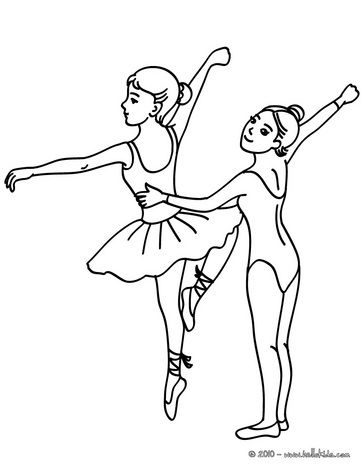 ballet dancing class coloring page