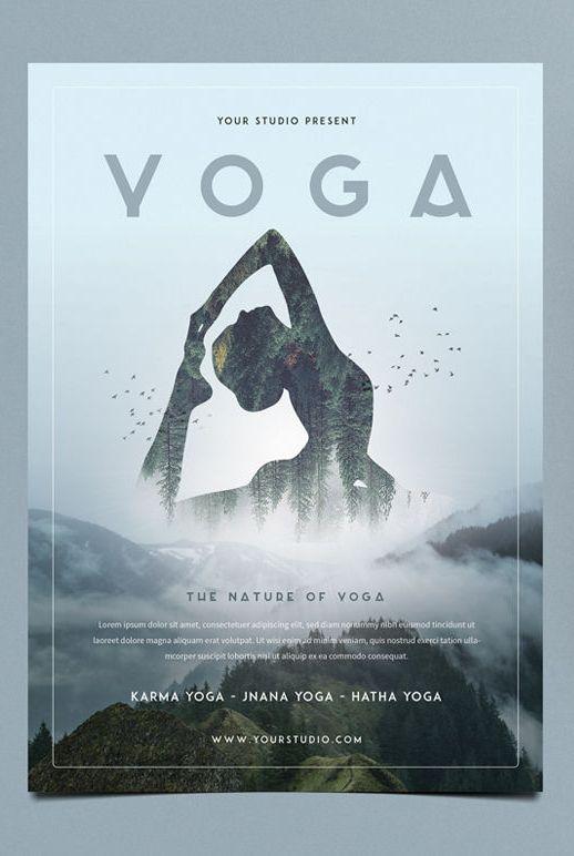 Yoga Flyer Template Psd Dizajn Plakata Dizajn Flaera Shablon Flaera