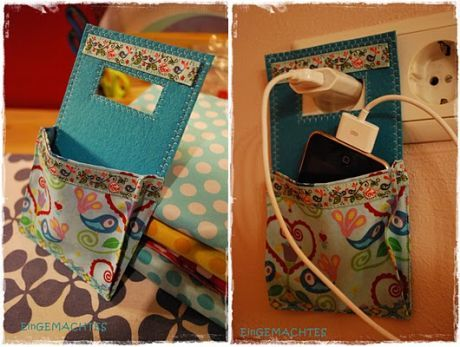 Cute cell phone or ipod charger holders diy followpics diy and cute cell phone or ipod charger holders find this pin and more on diy and crafts solutioingenieria Choice Image