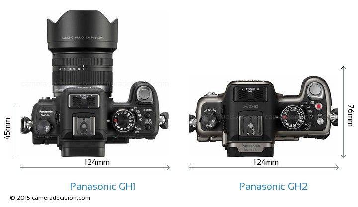 Panasonic Gh1 Vs Panasonic Gh2 Camera Size Comparison Top View Panasonic Panasonic Lumix Comparison