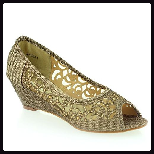 Frau Damen Abend Hochzeit Party Peep Toe Diamant Niedrige Keilabsatz Sandalen Schwarz Schuhe Größe 39 gJxehZ