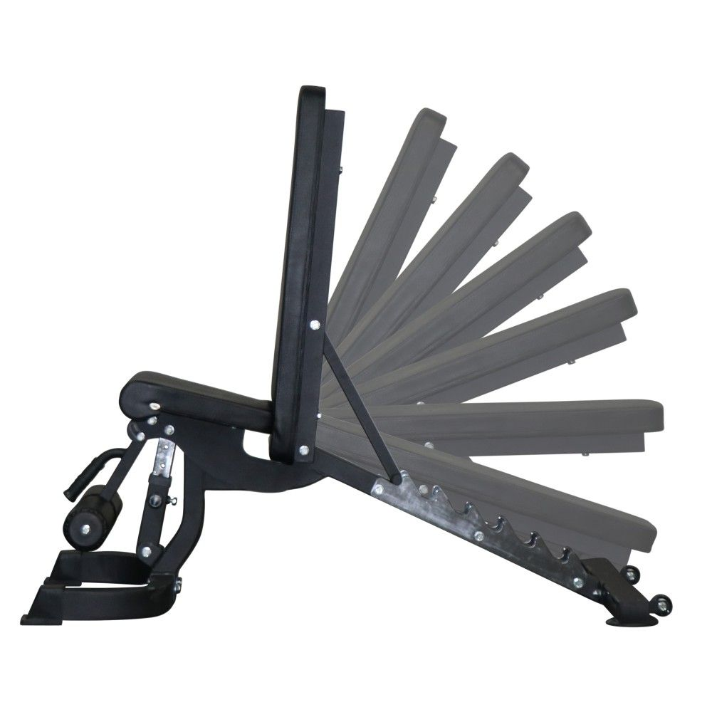 Max adjustable fid bench reps and sets incline decline