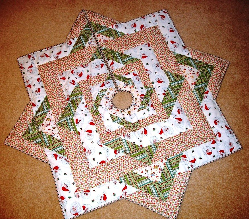 christmas tree skirt quilt free quilt pattern stars all around tree skirt from ez quilting