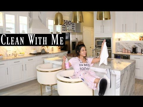 Kitchen Cleaning Routine Misslizheart Youtube With Images