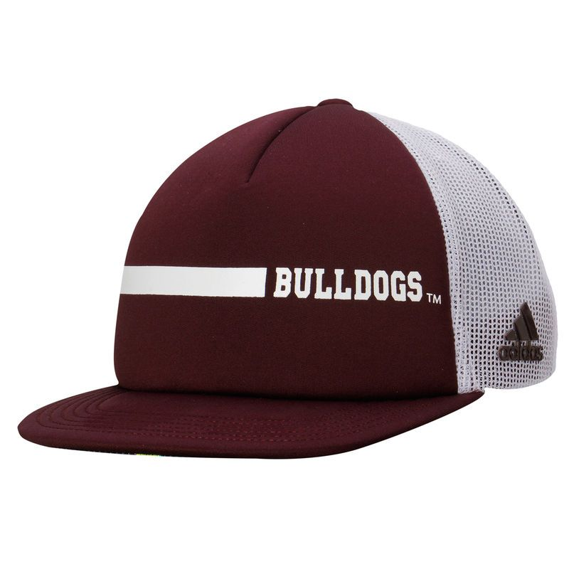 Mississippi State Bulldogs adidas Sideline Foam Front Trucker Adjustable climalite Hat - Black
