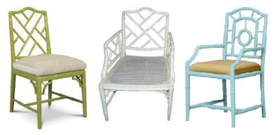 Superbe Faux Bamboo Chairs   Hollywood Regency Style