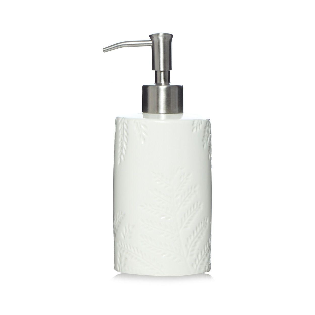Home Collection White fern embossed soap dispenser- at Debenhams.com ...