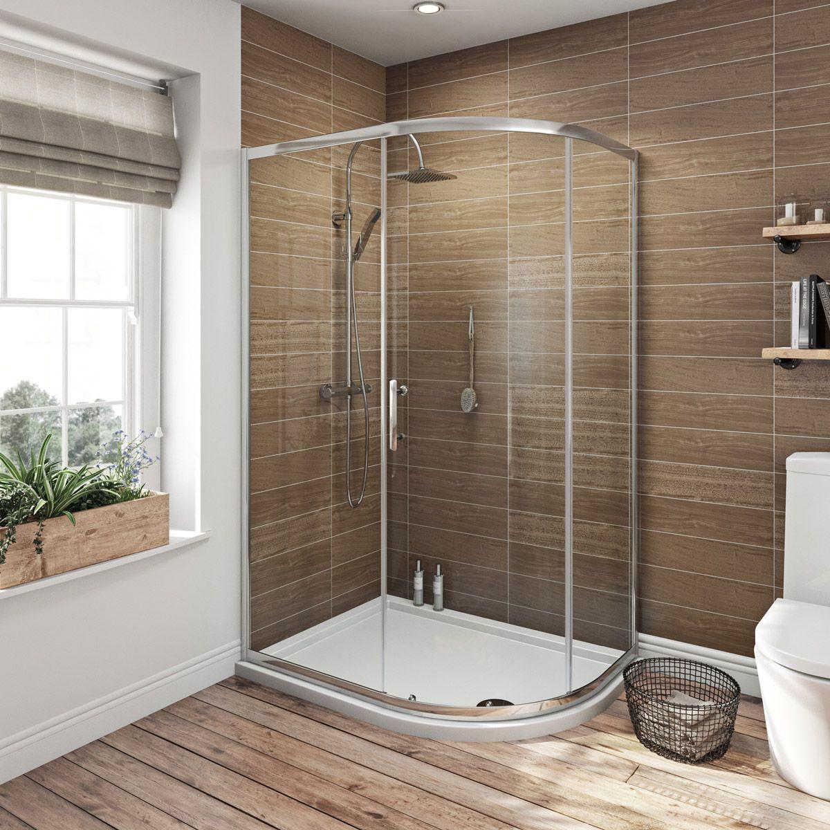 Orchard 6mm single door offset quadrant shower enclosure | Shower ...
