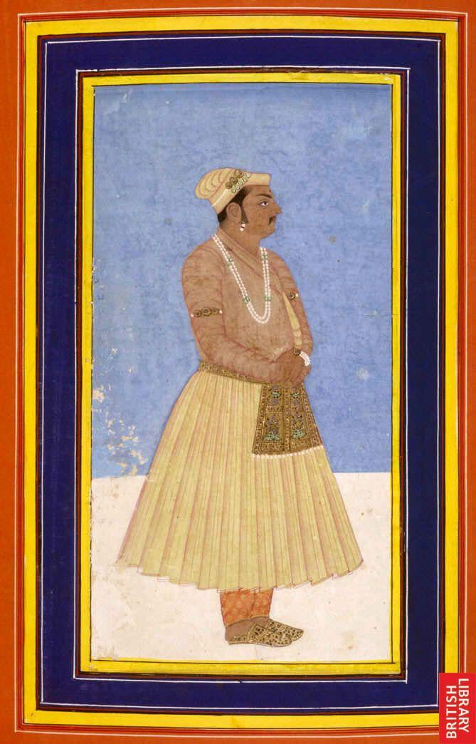 Akbar's favourite Mughal courtier Birbal, kavi rai portrait miniature