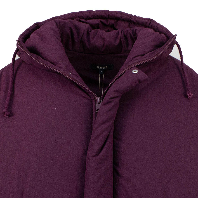 Yeezy Season 5 Short Puffer Coat Oxblood Puffer Coat Oxblood Street Wear [ 1500 x 1500 Pixel ]