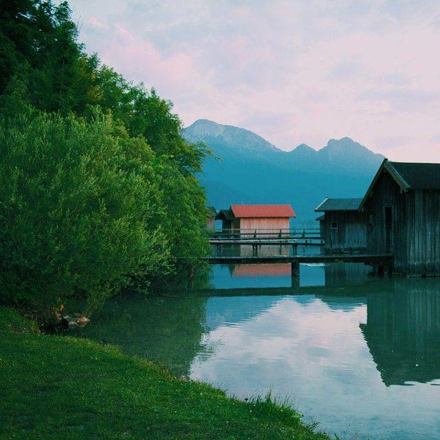 Germany. Evening lake.