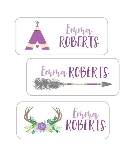 Name Label Stickers 30 Waterproof Personalized Stickers For Kids