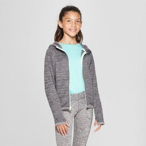 e1fe1bb30 Girls' Cozy Tech Fleece Sweatshirt - C9 Champion® Blue Spacedye XS : Target