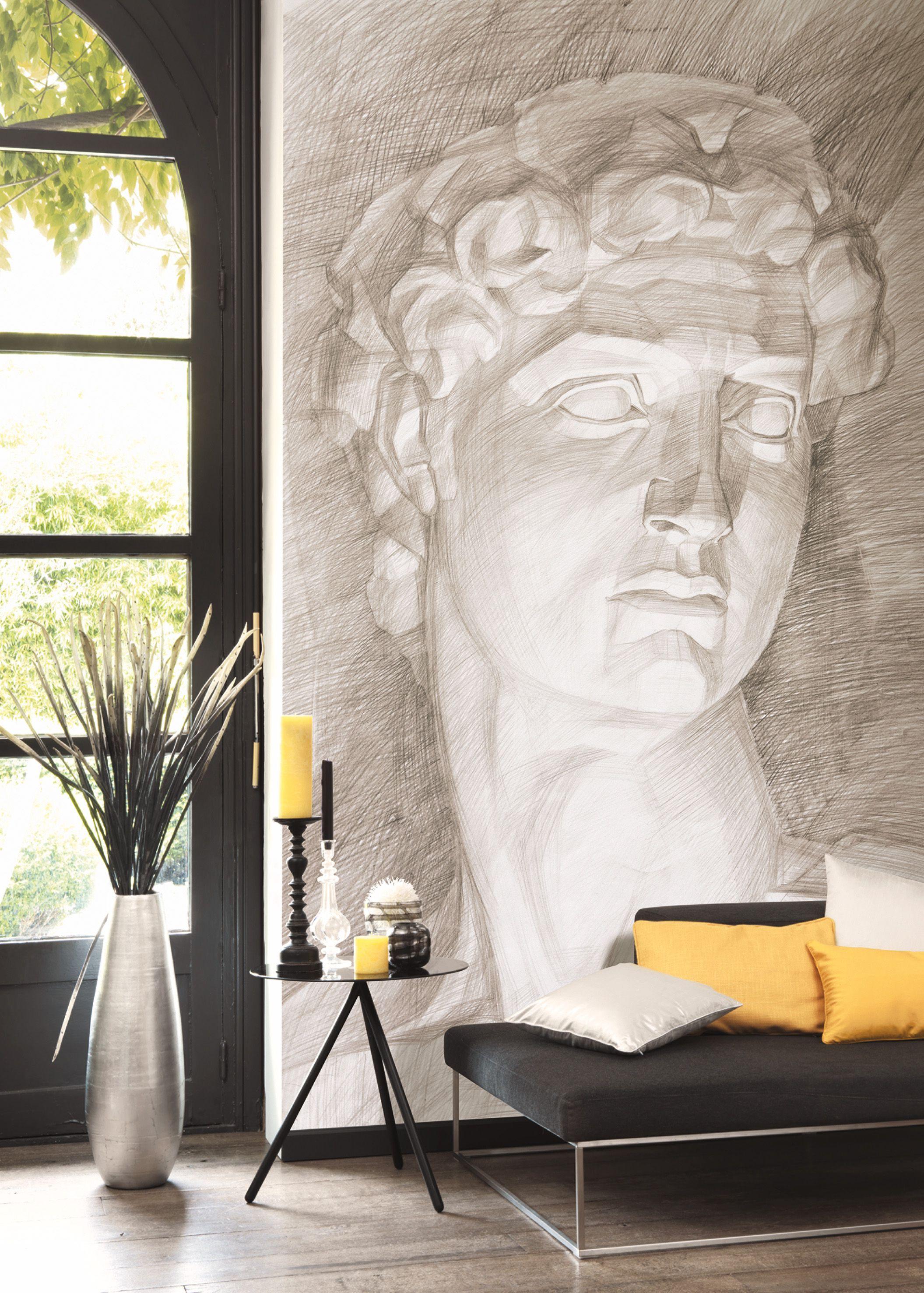 Papier Peint Trompe L Oeil Plafond collection so wall 2 : papier-peint, trompe l'oeil, esquisse